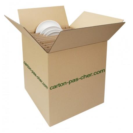 10 cartons demenagement croisillon 24 assiettes qualit. Black Bedroom Furniture Sets. Home Design Ideas